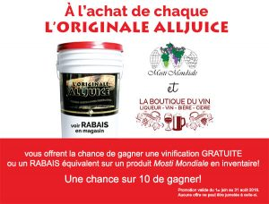 Concours Alljuice 2016