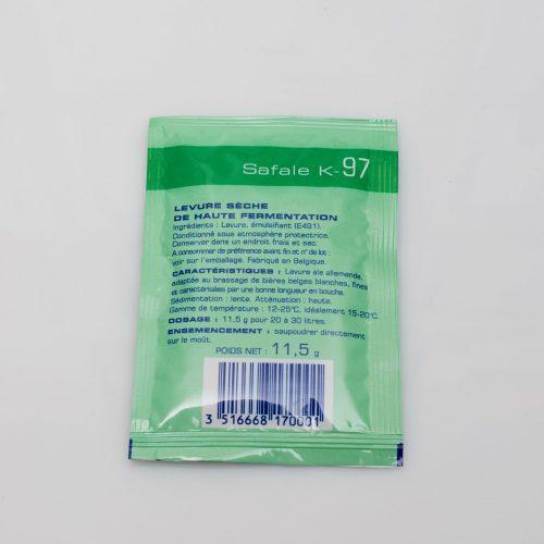 Levure sèche à bière Safale – K-97 – Fermentis 11 g