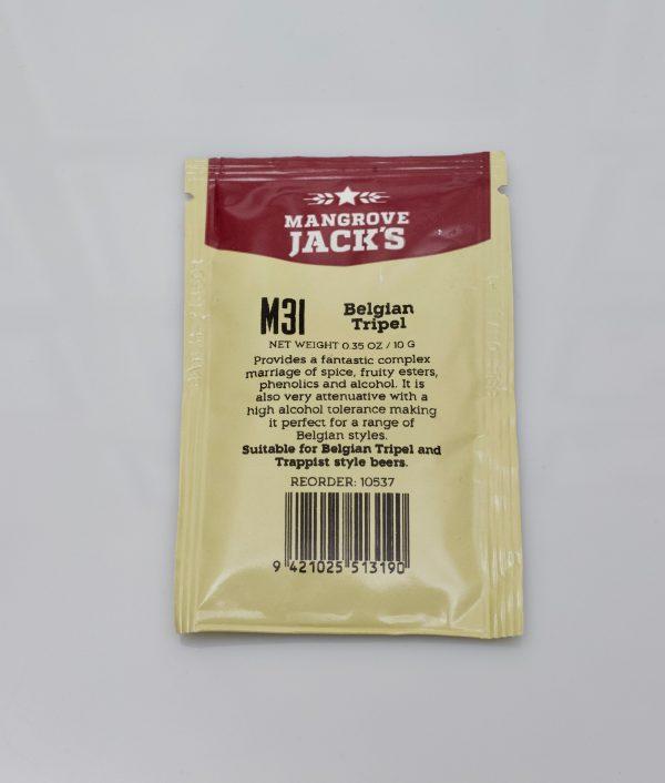 Levure sèche à bière Mangrove Jack's 10 g - M31 Belgian Tripel