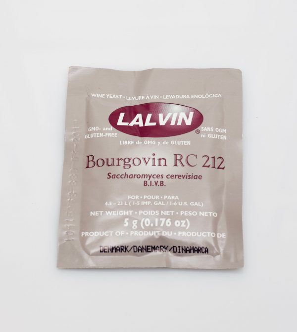 Levure sèche à vin Lalvin 5g - Bourgovin RC-212